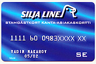 Silja Line frequent traveller card