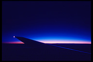 Dawn from plane